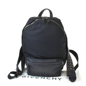 GIVENCHY Logo Studded 2Way Back Pack Bag Leather B